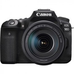 Canon EOS 90D Body Only + 18-135mm STM lens front at camera pro