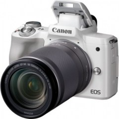Canon EOS M50 Mirrorless Digital Camera with 18-150mm IS STM Lens (White)