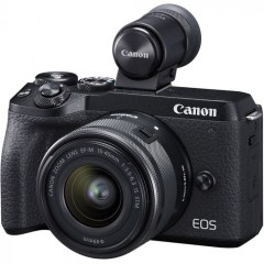 canon M6 mk 2 camera pro front with lens and ev 2